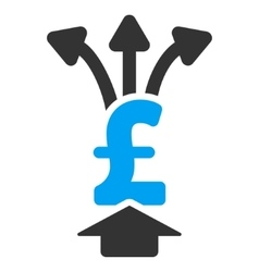 Share pound flat icon symbol vector