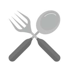 Spoon and knife vector