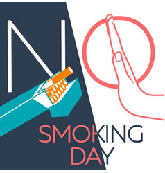 banner no smoking day linear vector image