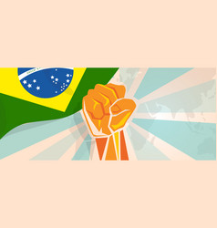 Brazil fight and protest independence struggle vector