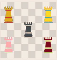 Chess rook collection vector