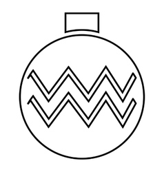 Christmas ball icon outline style vector image vector image
