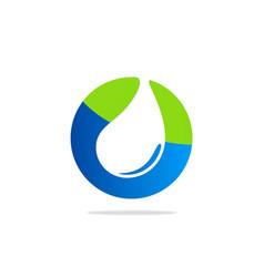 Clean water eco bio logo vector