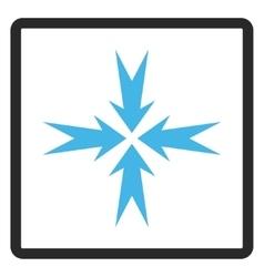 Compression arrows framed icon vector