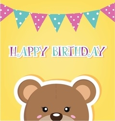 Happy birthday bear 2 copy vector