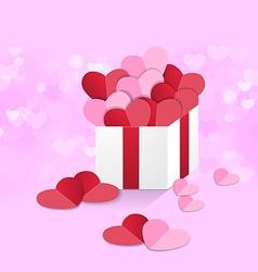 Heart box sweet pink vector