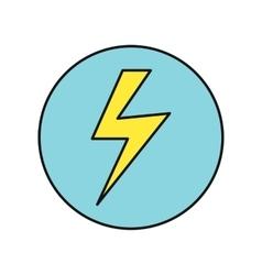 Lightning icon in flat design vector