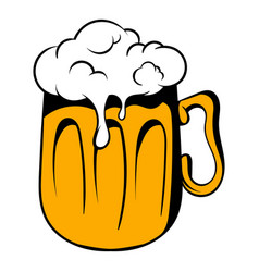 Mug of beer icon icon cartoon vector