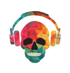 Music fan skull vector