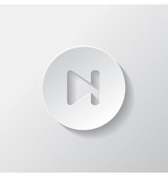 Next track web iconMedia player vector image