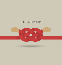 partnership concept in flat vector image vector image