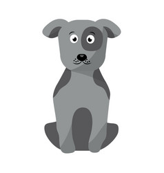 pet dog sitting animal domestic vector image