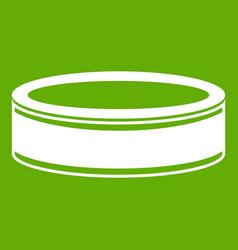 Puck icon green vector