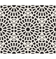 Seamless Black And White Geometric Lace vector image