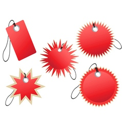 set of red tags vector image