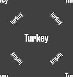 Turkey sign seamless pattern on a gray background vector