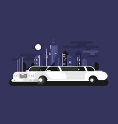 white limousine car vector image vector image