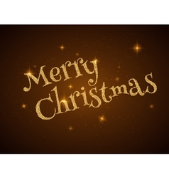 Christmas Typography on dark Xmas background with vector image