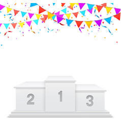 white sport podium of winners vector image