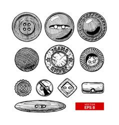 Set of button clothes vector