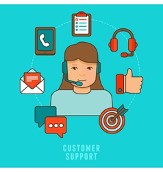 Flat customer service concept vector