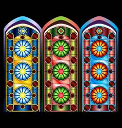 Stained glass windows vector