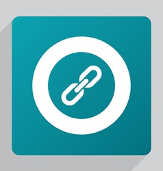 Flat link icon vector
