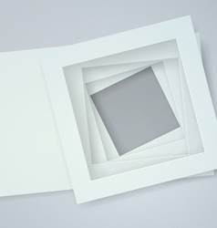 White frames paper background vector