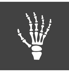 X-ray of hand vector image