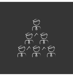 Business pyramid  Drawn in chalk icon vector image
