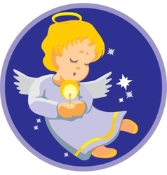 Smile angel in color 01 vector