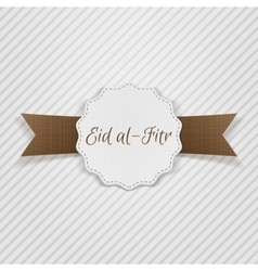 Eid al-fitr decorative festive tag vector