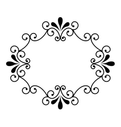 Victorian frame isolated icon design vector