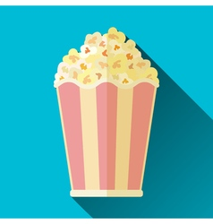 Popcorn bucket icon vector