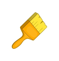 Paint brush icon cartoon style vector