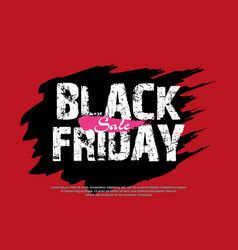 abstract black friday sale layout vector image vector image