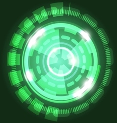 Abstract technology green background with circles vector