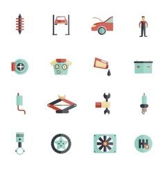Auto service flat icon vector