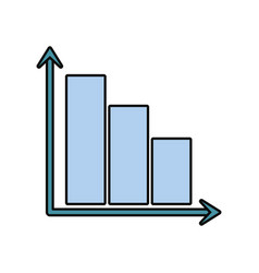 bar graphic icon vector image vector image