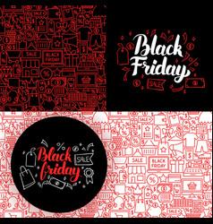 Black friday website banners vector