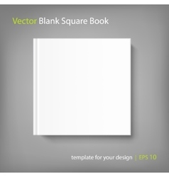Blank square cover book template on grey vector