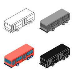 bus icon in cartoon style isolated on white vector image