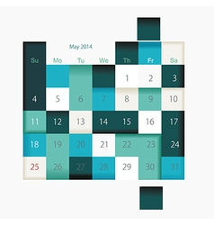 Calendar to schedule monthly convenient planner vector