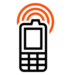 Cell phone icon vector image vector image