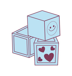 cube kids toy isolated icon vector image