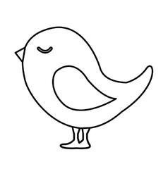 cute bird animal isolated vector image vector image