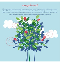 design for card with apple tree vector image vector image