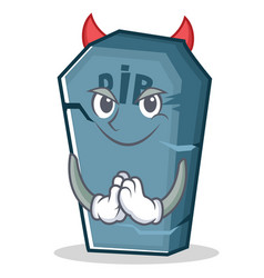 Devil tombstone character cartoon object vector