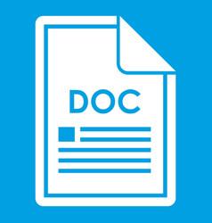 File doc icon white vector