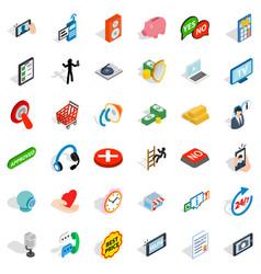 Internet icons set isometric style vector